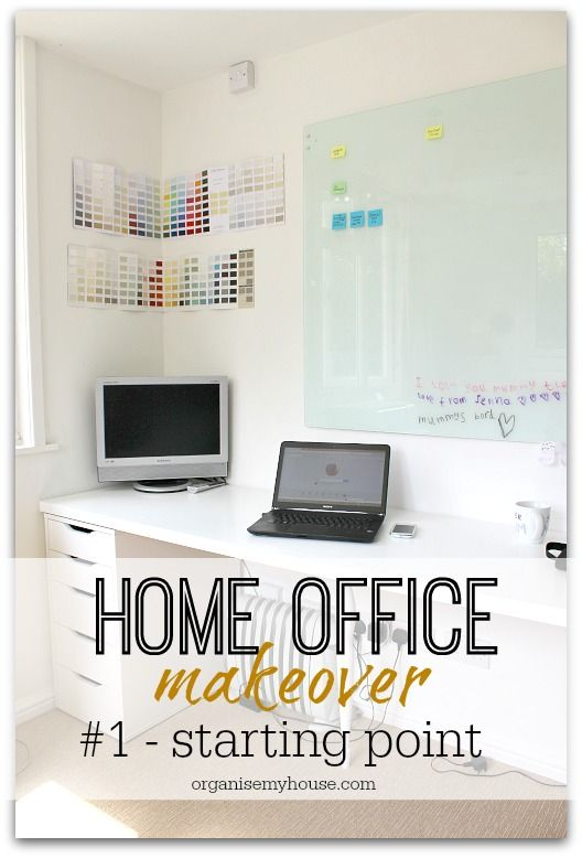 The start of a room makeover is daunting - here's where I started, the journey already made, and the start of my Home office makeover - follow along!
