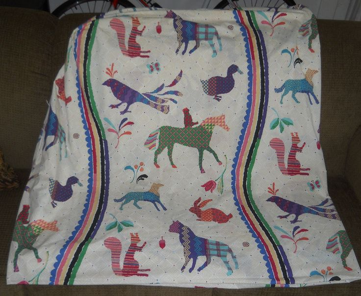 Vtg Wamsutta Supercale Fitted Sheet King SZ Southwestern Aztec Cutter Repurpose #Wamsutta