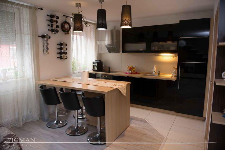 Black & Oak Kitchen