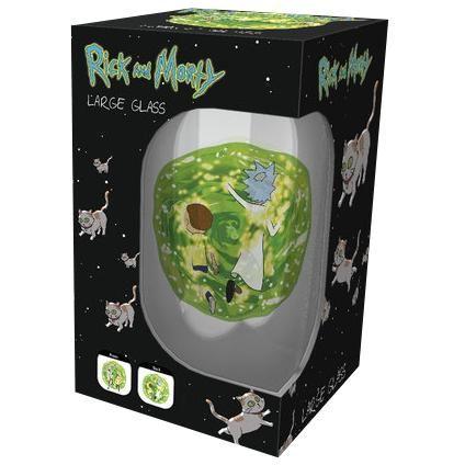 Portal - Pintglas van Rick and Morty