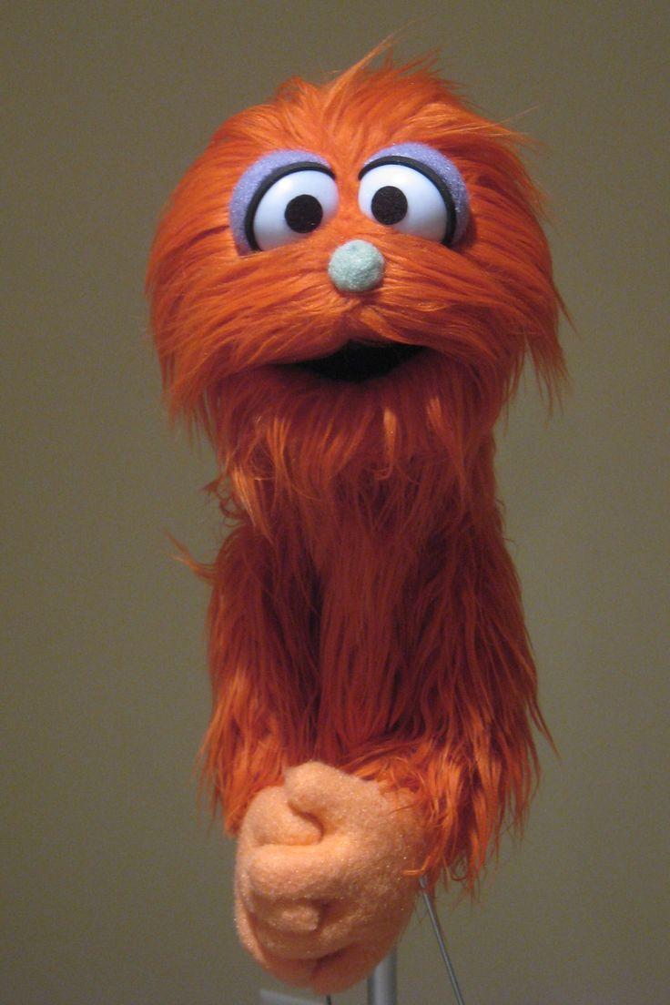 Professional Muppet Style Puppet Orange Long by MarksCreatureShop, via Etsy.