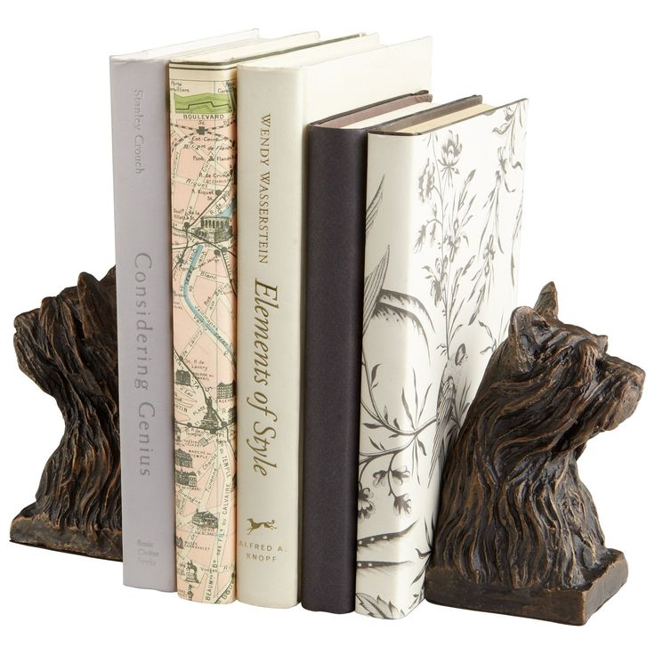 Westie Bookends, Set of 2 by Cyan Design