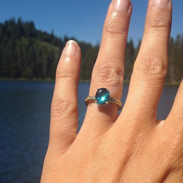 Brilliant Earth Teal Sapphire Ring Gemstone Rings Colored Gemstone Ring Engagement Rings Vintage Halo