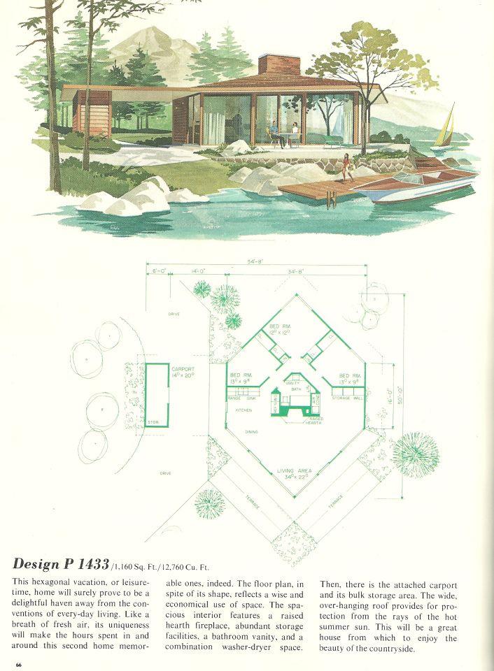204 best retro house plans & designs images on pinterest
