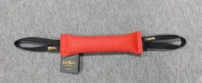 Gryzak z węża strażackiego z dwoma uchwytami 6 x 30cm czerwony