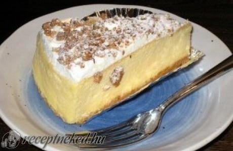 Túrós krémes sütés nélkül recept fotóval