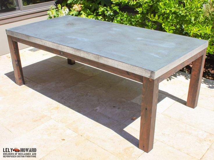This Outdoor Dining Table Was Built To Withstand The Elements, It Features  A Galvanized Sheet Metal Top Treated With An Acid Wash Giving It A Patina  Similar ...