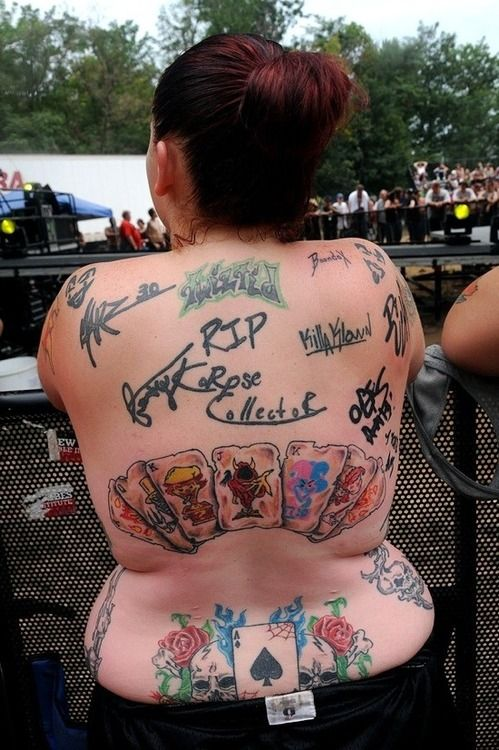 ICP Juggalette- Tattoo (Insane Clown Posse) #Tattoo #ICP #Ink #Juggalette