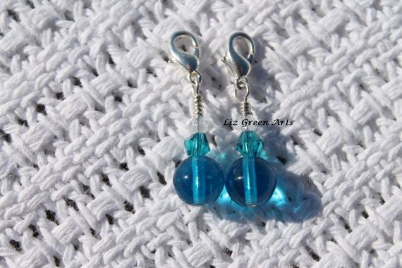 Handmade Stitch Markers For Crochet  Pair Of by LizGreenArts https://www.etsy.com/au/shop/LizGreenArts