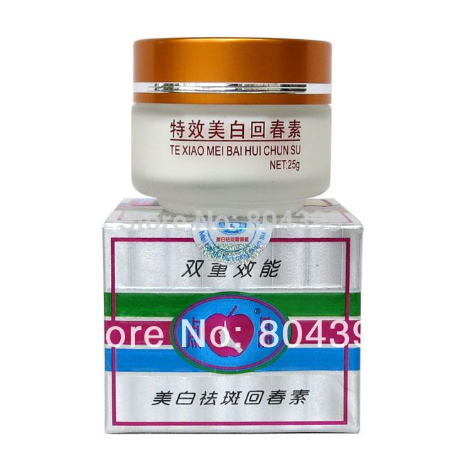 White color Te xiao mei bai hui chun su 25g/pcs whitening face cream removal freckle 2pcs/lot