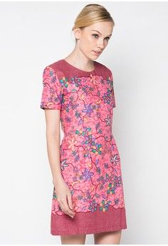 Dress Rania from Rianty Batik in pink_1