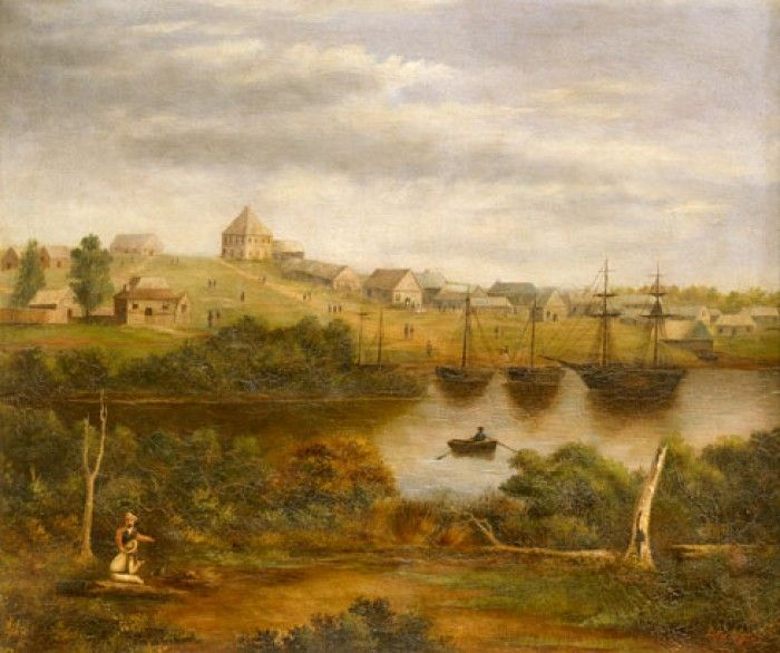 Melbourne from the south bank of the Yarra, 1840, Victoria 175 image gallery, State Library of Victoria