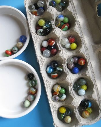 Make a Mancala game out of an old egg carton ;-)