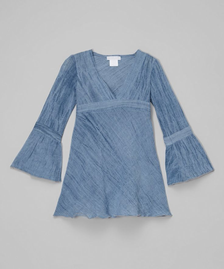 Look at this Blue Denim Tunic - Toddler & Girls on #zulily today!