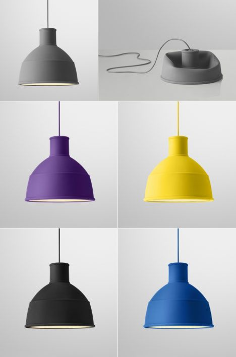 Unfold Pendant by Muuto: Made of soft silicone rubber to fold and unfold. Product Design #productdesign