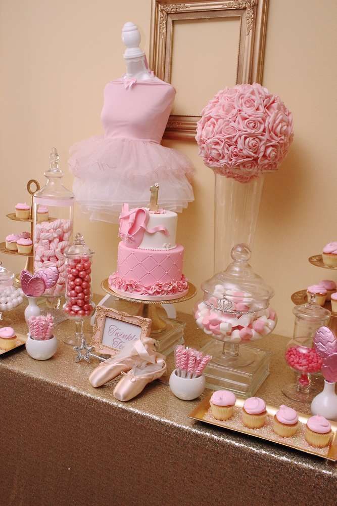 You won't want to miss Anaya's 1st Birthday Ballet Party! Just so beautiful!! See more party ideas at CatchMyParty.com