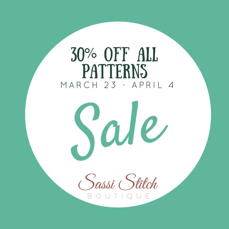 Get cross stitch patterns at 30% off at sassistitchboutique.etsy.com
