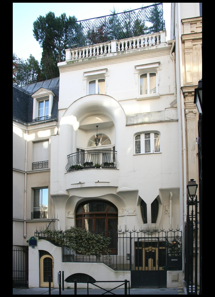 Beautiful art nouveau mansion in the 16th arrondissement, Paris. Photo by Laurent David RuampsArt Nouveau, Exterior, Art Deco, Dreams House, Autant 1903, Edouard Autant, Architecture, Beautiful Art, 3Ème Art