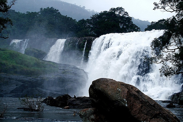 Thoovanam Falls during times of high water, Chinnar Wildlife Sanctuary, Marayoor, India;  photo by Faizal puthussery, via Flickr