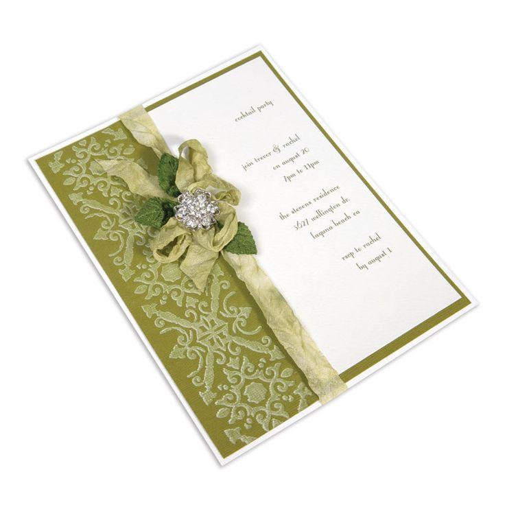 top wedding invitations016%0A Sizzix co uk  Rustic Trellis Party Invitation