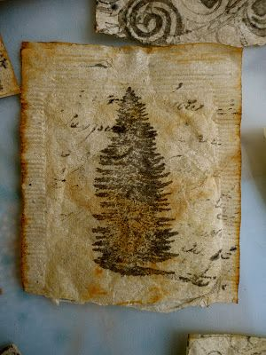 Tea Bag Art.... tutorial for using on cards or other projects too.