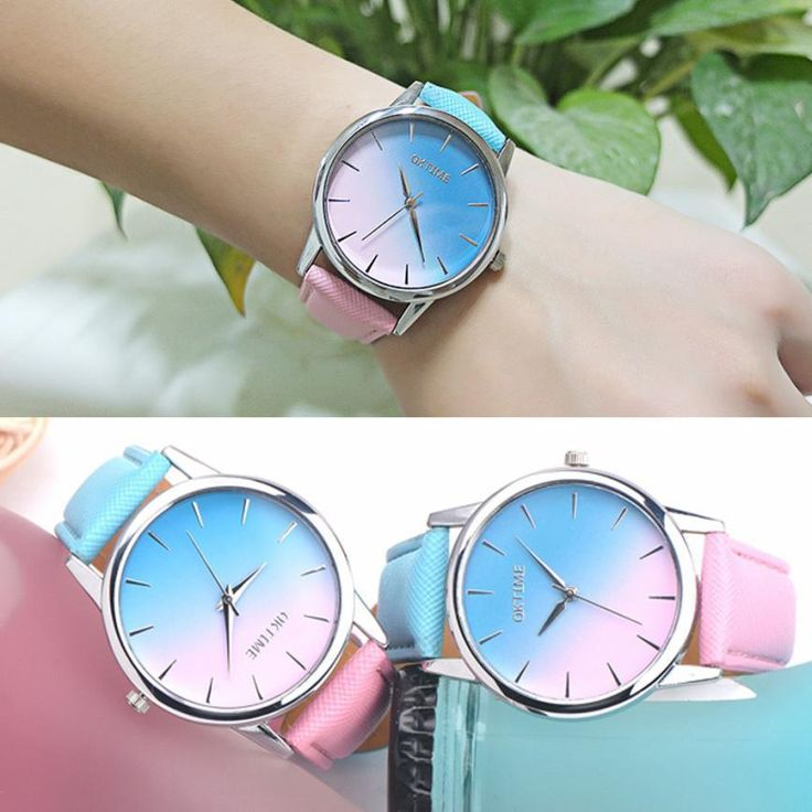 29 best deals steals images on pinterest band casual watches cheap saat women buy quality saat band directly from china saat watch suppliers 2017 fashion brand retro rainbow design leather band analog alloy quartz fandeluxe Choice Image
