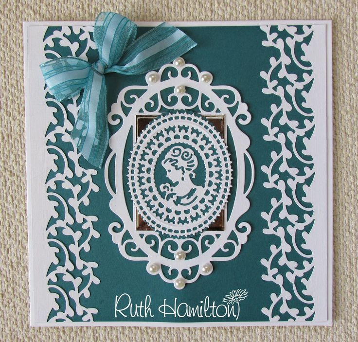 A Passion For Cards: Charlotte Cameo Rococo die with Royal Frame die