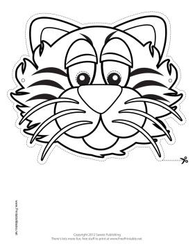Printable Tiger Mask to Color Mask