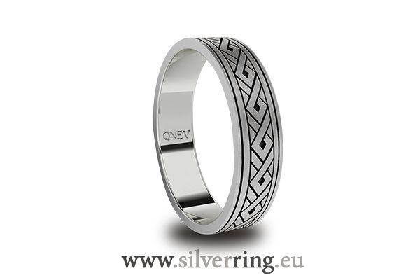 Obrączki. Wzory obrączek. Obrączki srebrne. Silver ring.