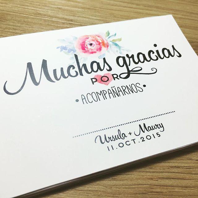 Tarjetas de Agradecimiento personalizables para bodas y eventos #papeleria…