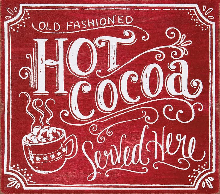 Christmas Decor Box Sign. Hot Cocoa served here.