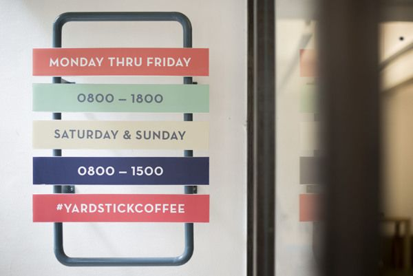 Yardstick Coffee (Space) by ACRE, via Behance
