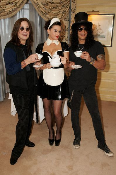 Ozzy Osbourne And Slash Enjoy Tea At The Dorchester Hotel