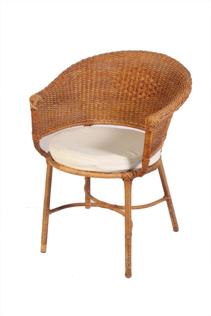 Cadeira de Junco com braços e assento Cru. elegância atemporal.
