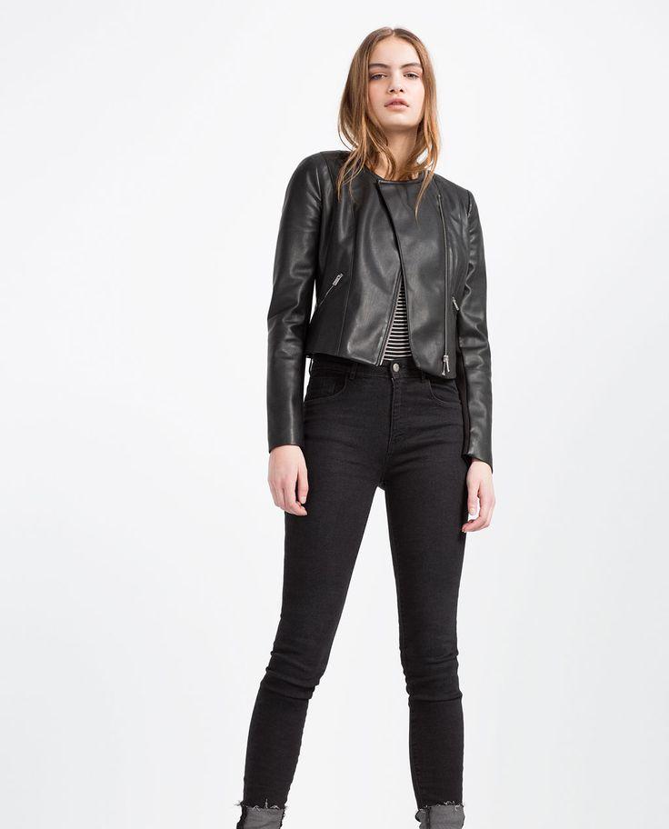 BIKER JACKET-Faux Leather-LEATHER-WOMAN | ZARA United States