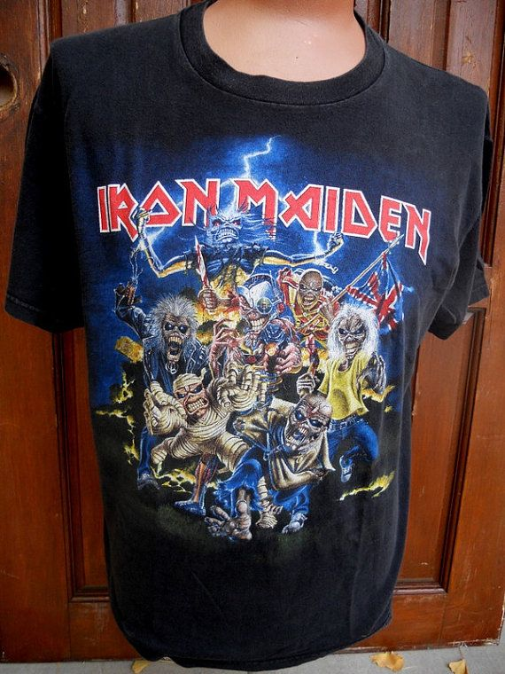 db4ba87d Vintage Authentic IRON MAIDEN T Shirt . by MikesQualityVintage   AWESOME,  COOL T-Shirts & Hoodies!   Iron maiden t shirt, Shirts, T shirt