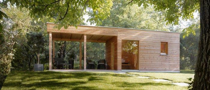 Außensauna TALO mit optionaler Terrasse