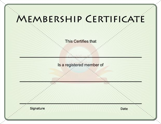 15 best images about membership certificate template on pinterest