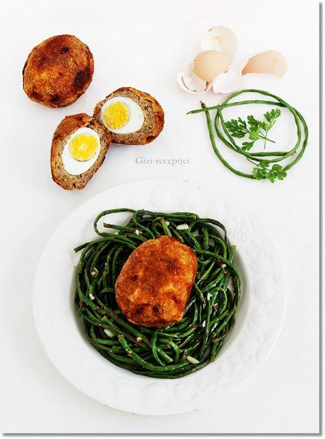 Gizi-receptjei.  Várok mindenkit.: Skót tojás spagetti babbal.