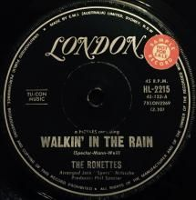 WALKIN' IN THE RAIN / HOW DOES IT FEEL ~ RONETTES 7 inch single
