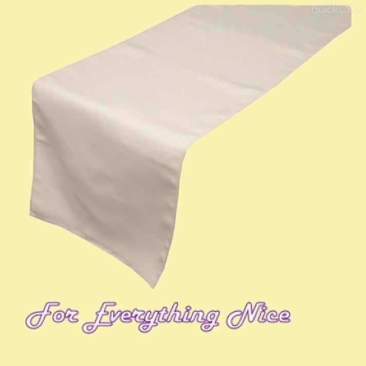 Ivory Polyester Wedding Table Runners Decorations x 5 For Hire by J7339 - $30.00