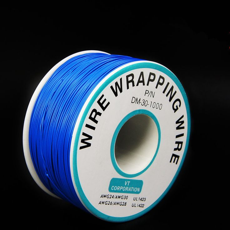 EziUsin Welding cable PCB Jumper Circuit Board 0.25mm Wire-Wrapping Electronic Wire 30AWG Cable 250m Blue