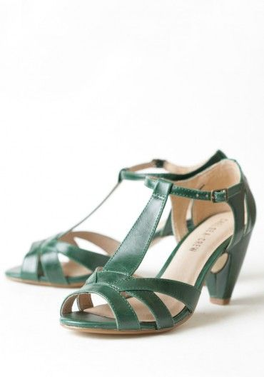 Nicole T-strap Heels By Chelsea Crew | Modern Vintage Shoes