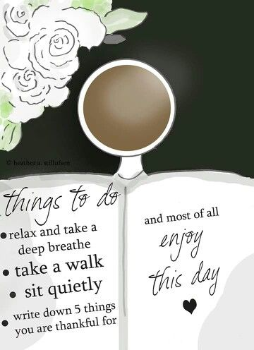 Things to do today.