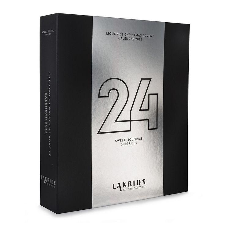 Calendrier de l'avent original avec ses 24 surprises en réglisse de Lakrids by Johan Bülow. Enfin un calendrier pour les adultes ! PS. il peut se partager vu qu'il y a 2 bonbons par jour