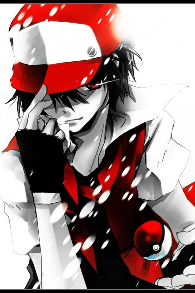 red...best color in the world as of this moment. I used to love the pokemon battles, but here is another reason; you grow up an realize that the guys of anime you love are amazing too.