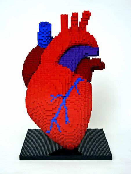 Brick heart, Nathan Sawaya valentine