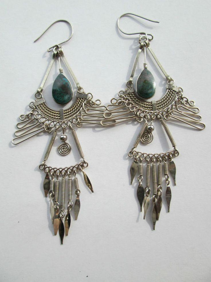 1 Paar Ohrringe aus Peru handgemacht  Nr.1 Folklore Folkloreschmuck Schmuck Ohr