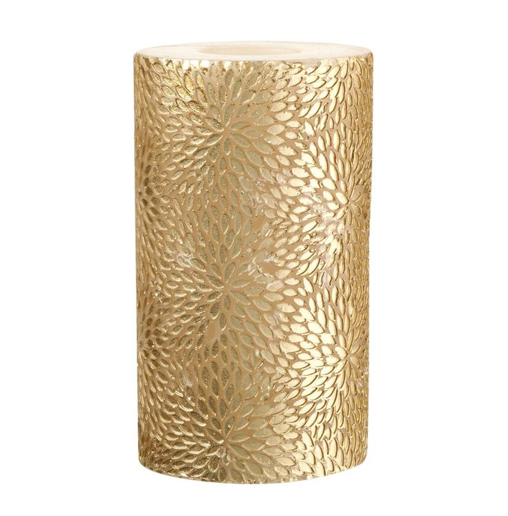 Light up the room with this ultra-glam gold pillar candle.  Priced at £5.
