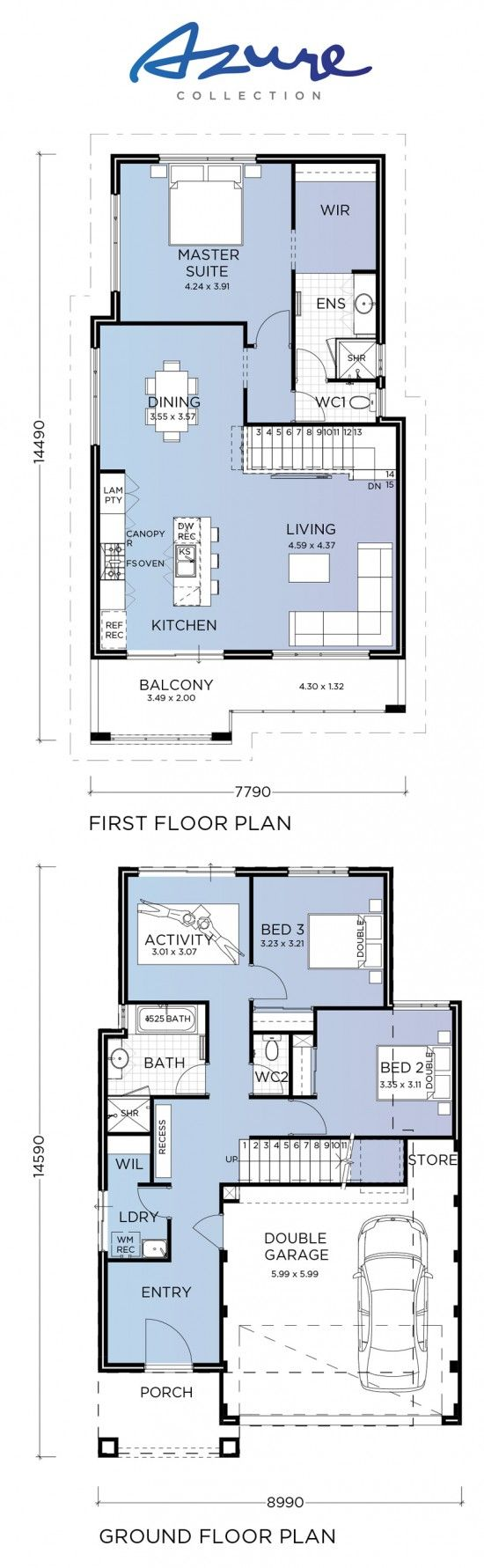 43 best Reverse Living House Plans images on Pinterest | House ...